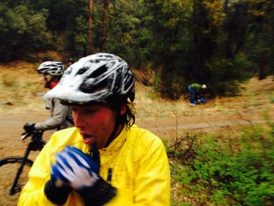 Whiskey Off Road 2014 - the bottom of 260 trail, below the storm, in the sub freezing temps